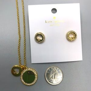 Kate Spade Spot the Spade necklace and earings set